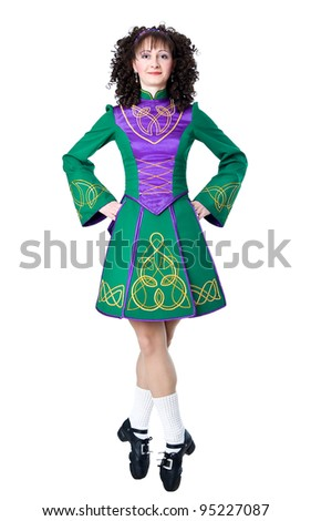 Irish dancer in the hard shoes
