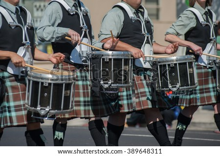 Irish drum line for the marching band.