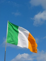 Irish Flag on a summers day