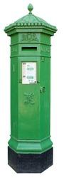 Irish Postbox isolated