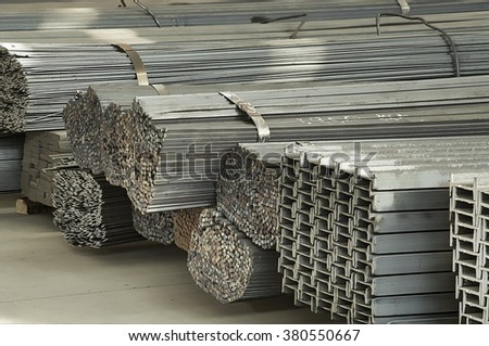 iron and steel material storage #380550667