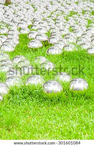 iron balls on the ground