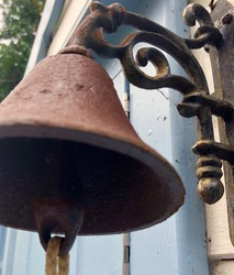Iron bell in summer