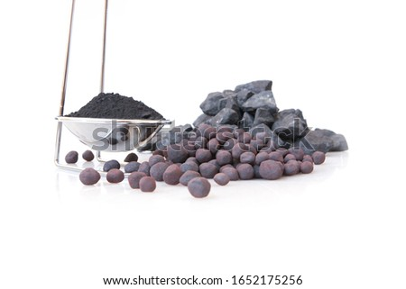 Iron Concentrate, iron ore pellets and iron ore.