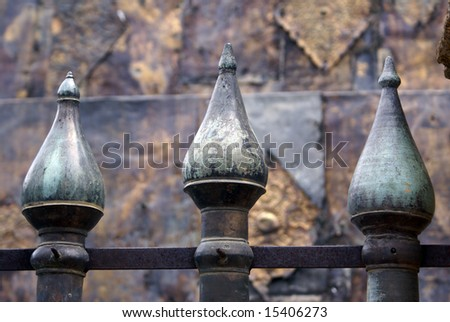 Iron fence in Wat Lampang Luang, north Thailand