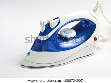 Iron for ironing on a white background