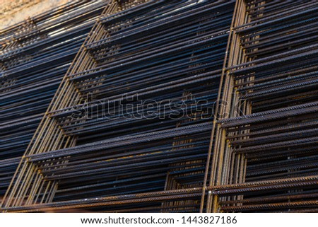 Iron framework for the construction of foundations in buildings.
