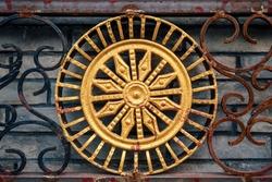 iron gate ornament. decorative metal elements