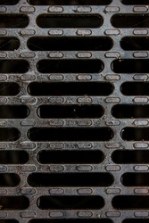 Iron hatch from the channel or sewer