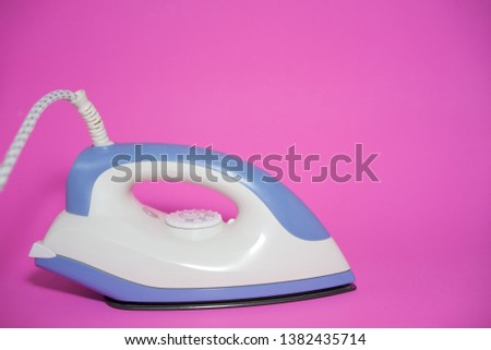 iron housework ironed electric tool clean pink background #1382435714