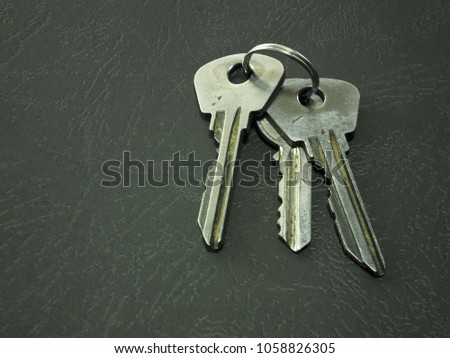 iron keys in a group