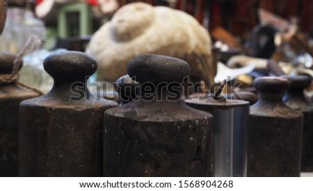Iron kilograms sold in antique market