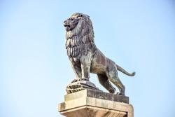 Iron Lion statue sculpture
