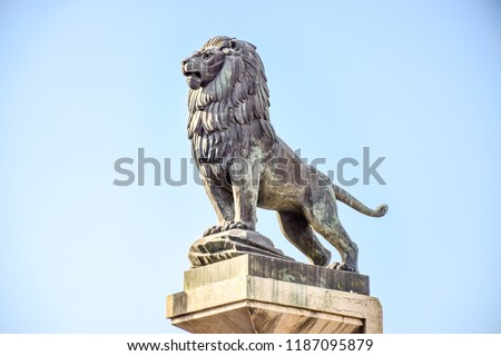 Iron Lion statue sculpture