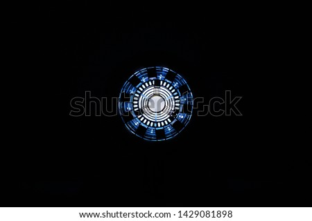 Iron man arc reactor with light