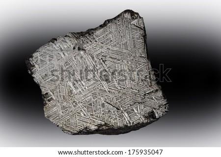 Iron meteorite slice from Sweden.