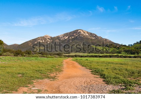 Iron Mountain in Poway, California, the second highest peak in the city, with the Iron Mountain Trail being the longest wilderness trail in the city.