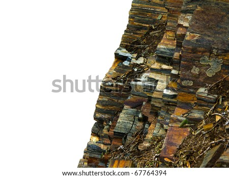 Iron ore - nature texture isolated on white background