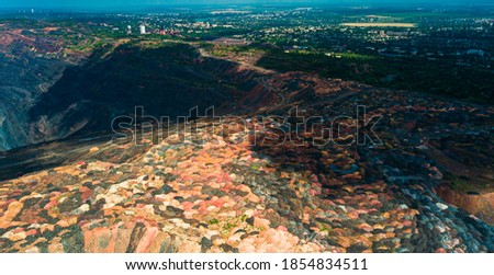 Iron ore quarry open pit mining of iron ore is huge. Foto d'archivio ©