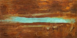 Iron oxide rust texture abstract with copper patina by Paul Seftel