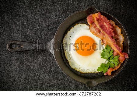 Iron pans and bacon eggs