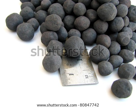 Iron pellets. Iron ore pellets are spheres of typically 8–18 mm.