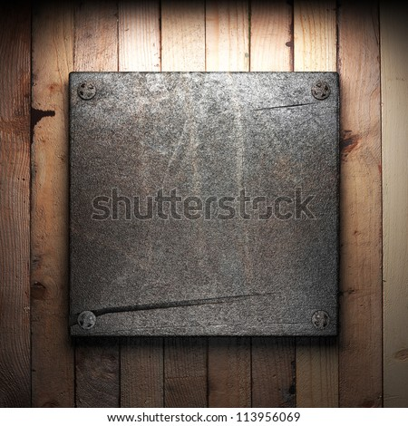 ShutterStock iron plate on wall 113956069