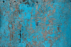 Iron plate with paint chips texture.