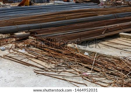 iron rods on the ground #1464952031