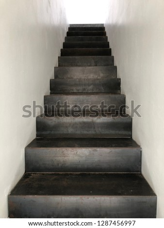 iron staircase of modern #1287456997