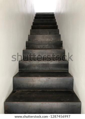 iron staircase of modern #1287456997