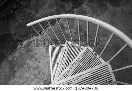 Iron Stairways of a building #1374884738