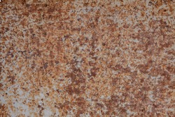 Iron surface rust, background of rust on metal
