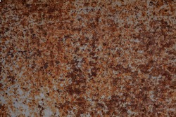 Iron surface rust, background of rust on metal.