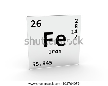 Iron Element Symbol Black And White Iron symbol - Fe - element of