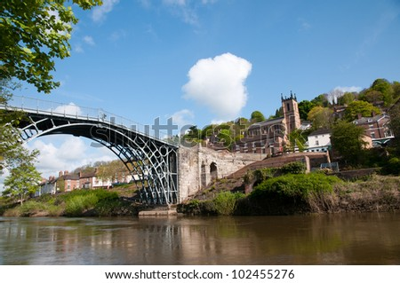 Ironbridge over the river Severn in Telford, England