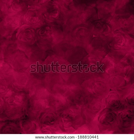 irregular romantic pattern monochrome dark red and maroon roses embedded in the background
