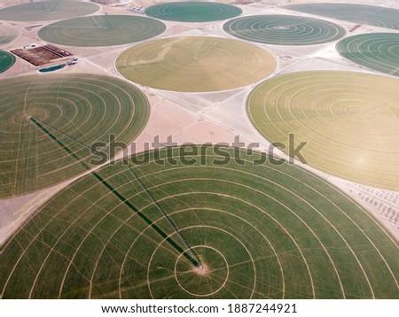 Irrigation Circles - Center Pivot Irrigation Photo stock ©