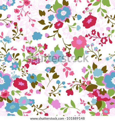 IS001 seamless floral pattern