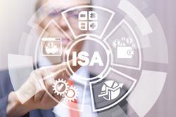 ISA Individual Savings Account Business Finance concept.