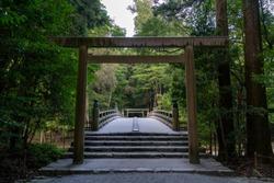 Ise Jingu Shrine is Japan most sacred Shinto shrine.Mie Prefecture, Japan.
