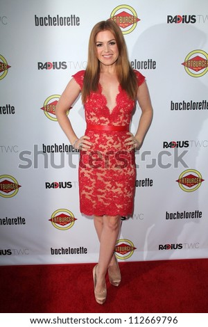 "Isla Fisher at the ""Bachelorette"" Los Angeles Premiere, Arclight, Hollywood, CA 08-23-12"