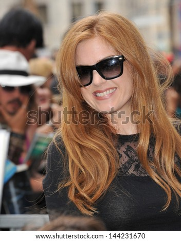 Isla Fisher on Hollywood Boulevard where Jerry Bruckheimer was honored with the 2,501st star on the Hollywood Walk of Fame. June 24, 2013  Los Angeles, CA