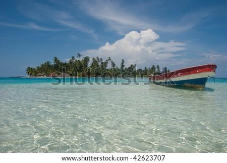 Isla, San BLas, Kuna yala. Panama. - stock photo