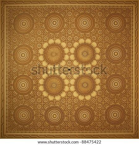 Islam art pattern Islamic art on the wall of the Hassan II mosque, Casablanca, Morocco.
