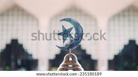 islam symbol in a doom mosque