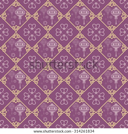 Islamic background, wallpaper. Design template. Geometric tiles. Pattern background in retro style for your design. Islamic texture.