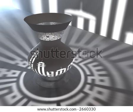 Islamic Lamp 3D render