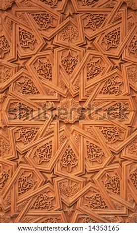 Islamic (Moorish) style. Detail of wall plaster. Great background. - stock photo