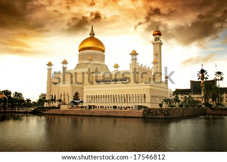 Islamic Mosque on Water